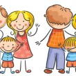 Family Front and Rear Views — Stock Vector #77056101