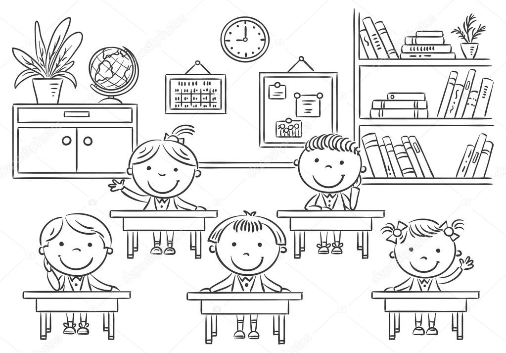 Crian as na sala de aula para a li o dos desenhos - Dessin classe ...