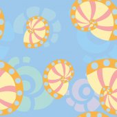 Sea shells background 1 — ストックベクタ