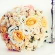 Bridal bouquet with roses — Stock Photo #54050155