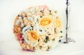Bridal bouquet with roses — Stock Photo