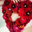 Red Flowers Heart — Stock Photo #55802451