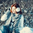 Girl in winter outdoors — Stock Photo #55802577