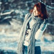 Girl in winter outdoors — Stock Photo #55802807