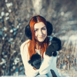 Girl in winter outdoors — Stock Photo #55802817