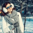 Girl in winter outdoors — Stock Photo #56428761