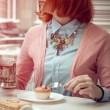 Young woman in cafe — Stock Photo #65448785