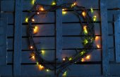 Christmas garland on a wooden background — Foto de Stock