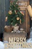 Christmas tree in a festive interior — Foto de Stock
