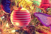 Christmas decorations - Lighted ball — Stok fotoğraf