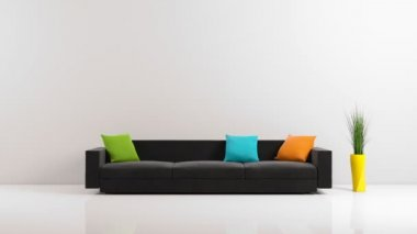 Same sofa, different colors — Stok video