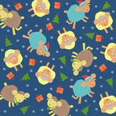 Sheep background christmas — Stock Vector