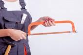 рабочий-строитель женского пола — Стоковое фото