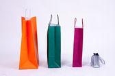 纸购物袋 — 图库照片