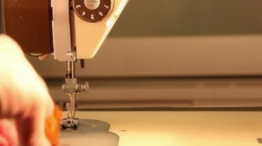 Sewing machine in operation — Stock Video
