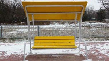 Swing in winter — Stock Video