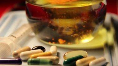 Drugs pills pill,  chemical laboratory — Stock Video