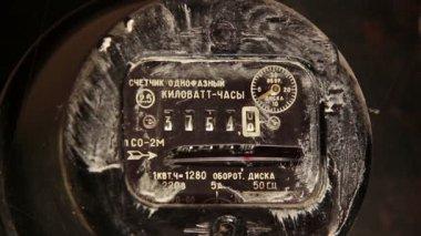Medidor de electricidad sucia — Vídeo de Stock