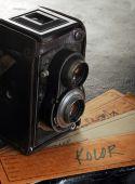 Vintage twin reflex kamera — Stockfoto
