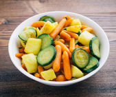 Fried vegetables on the plate — Stock Photo