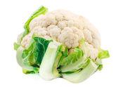 Cauliflower isolated on white — Stock Photo