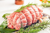 Fresh Roast of Veal — Stock Photo