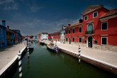 Canal in burano — Stockfoto