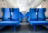 Interior of empty railway carriage — Stock Photo
