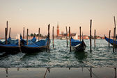 Gondolas in Venice — Stockfoto