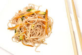 Rice noodles with vegetables — Stock Photo