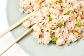 Chinese rice with vegetables and eggs — Stock Photo