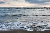 Seascape at night with the sky overcast — Stock Photo
