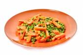 Cooked peas and carrots — Stock Photo