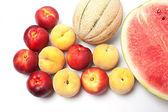 Mixed fruit arranged — Stock Photo