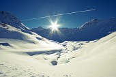The italian alps in winter — Stock Photo