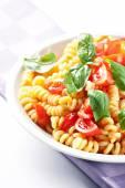 Pasta with fresh tomatoes — Stock Photo