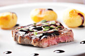 Fillet of beef with potateos — Foto Stock
