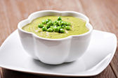 Creamy Pea soup — Stock Photo