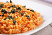 Risotto with tomatoes and mozzarella — Stock Photo