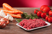 Ingredients for Bolognese sauce — Stock Photo