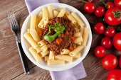Delicious Macaroni Bolognese — Stock Photo