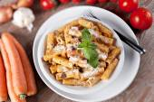 Macaroni Bolognese — Stock Photo