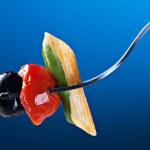 Pasta, olive and tomato — Stock Photo #66535691