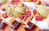 Raspberry desserts — Stock Photo