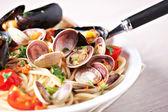 Lezzetli deniz ürünleri spagetti — Stok fotoğraf