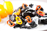 Tortellini with squid ink. — Stock Photo