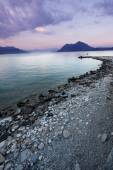 Lake Maggiore at sunset — Stock Photo