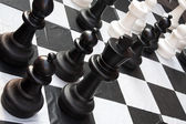Chessboard during a game — Stock Photo