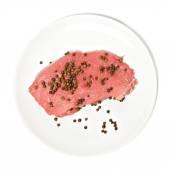Pimenta e carne fresca — Fotografia Stock
