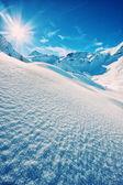Italian alps in winter — Stock Photo